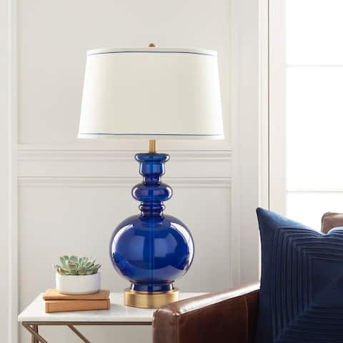 Iuka Traditional Genie Glass 29.5-inch Table Lamp