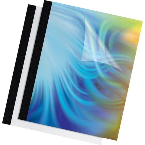 Fellowes, inc. 5222701 thermal binding covers are made of durable, heavy gauge material and offer a tra