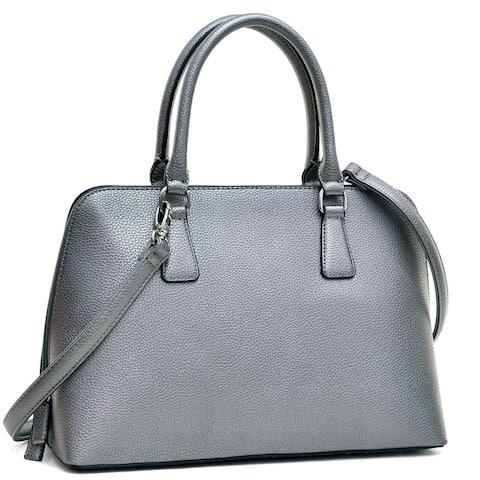 Dasein Buffalo Faux Leather Zip-Around Handbag