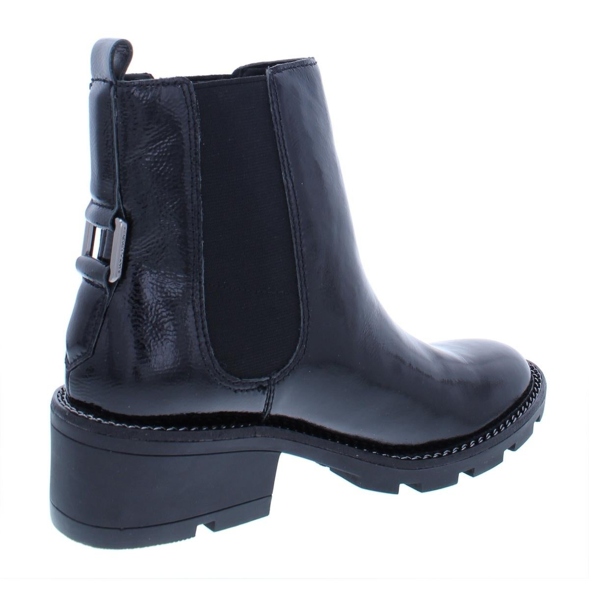 573f02155d56b Shop Kendall + Kylie Womens Porter Chelsea Boots Patent Leather Block Heel  - Free Shipping Today - Overstock - 26639368
