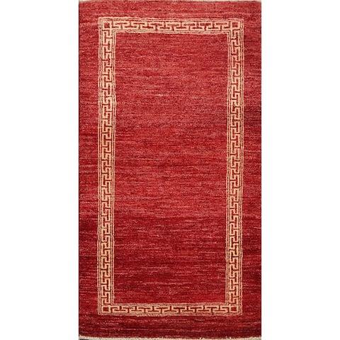 "Contemporary Gabbeh Kashkoli Oriental Wool Runner Rug Hand-knotted - 2'5"" x 4'6"""