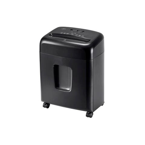 Monoprice 10-Sheet Crosscut Paper and Credit Card Shredder With Built-in Casters