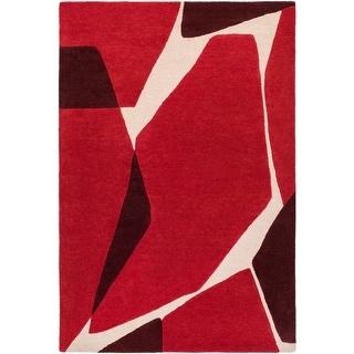Carson Carrington Odder Hand-tufted Abstract Wool Area Rug