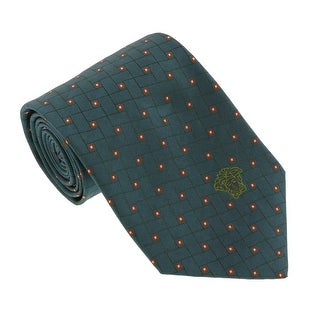 Versace Green Woven Abstract Tie