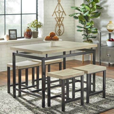 Simple Living Delano Two-tone 5-piece Dining Set