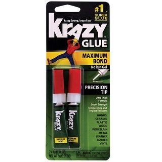Krazy Glue KG817 Maximum Bond Super Glue, 4 Gram, Pack of 2