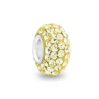 Bling Jewelry Sterling Silver Imitation Citrine Crystal Bead Charm