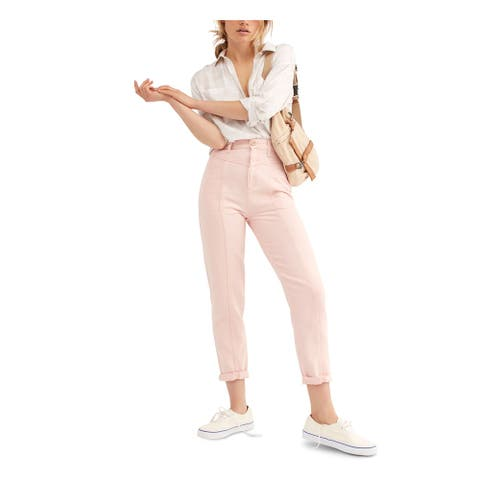 FREE PEOPLE Womens Pink Jeans Size 30 Waist
