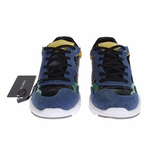 Dolce & Gabbana Multicolor Leather Sport Gym Sneakers Shoes - 39