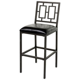 26 in. Lansing Metal Barstool with Black Upholstered Seat & Coffee