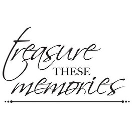 "Mini Clear Stamps 2.25""X3""-Treasured Memories Words - Red"