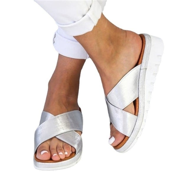 Large Size Cross-Over Women's Sandals And Slippers. Opens flyout.