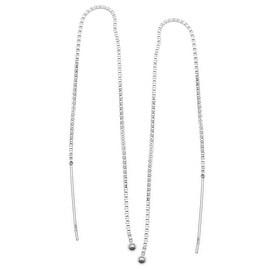 Sterling Silver Ear Threads Threaders 5 Inch / Add A Bead (1 Pair)