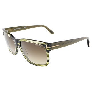 Tom Ford FT0376/S 98K BARBARA Olive Green Rectangular sunglasses