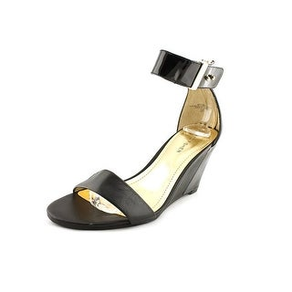 Marc Fisher Corri3 Open Toe Leather Wedge Sandal