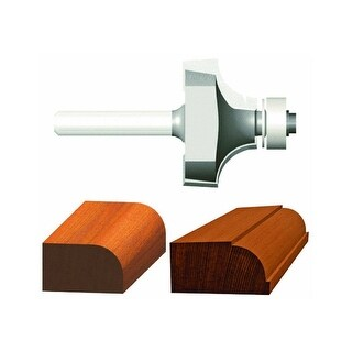 """Vermont American 23151 Carbide Tipped Silver Series Router Bit, 1"""" OD"""