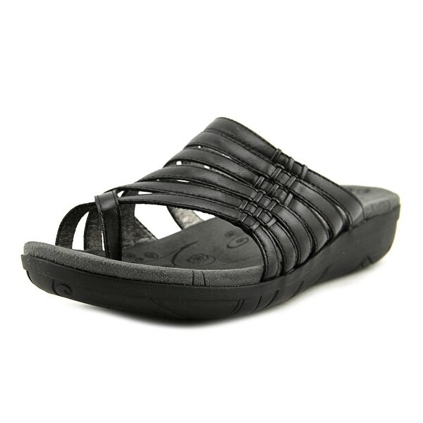 Baretraps Josey Women Open Toe Synthetic Black Slides Sandal