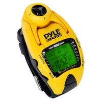 Wind Speed Meter w/ Wind Chill Temp., Altimeter, Barometer, Compass, 10 Laps Chronograph Memory, Yacht Timer (Yellow Color)