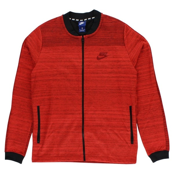 Shop Nike Mens Sportswear AV15 Knit Jacket Heather Red - heather red black  - Free Shipping Today - Overstock - 22544979 777d854c1