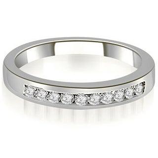 0.25 cttw. 14K White Gold Channel Set Round Cut Diamond Wedding Band