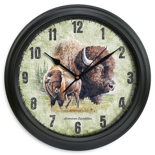 American Expedition 11.5In Diameter Clock - Bison - SCLK-807