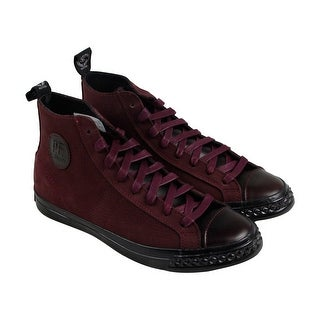 PF Flyers Rambler Hi Mens Burgundy Leather High Top Lace Up Sneakers Shoes