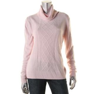 Karen Scott Womens Turtleneck Long Sleeves Pullover Sweater