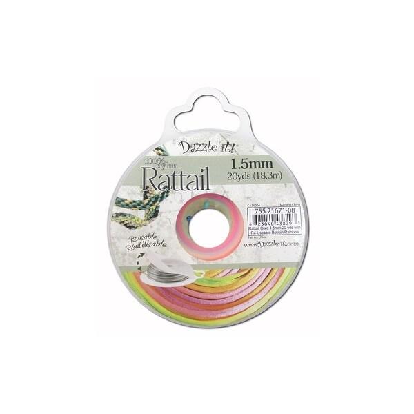 Dazzle It Rattail Cord 1.5mm 20yd Rainbow