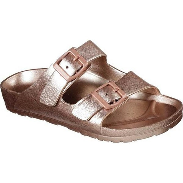 37a73efab509 Shop Skechers Women s Cali Breeze Glow Power Slide Sandal Rose Gold - Free  Shipping On Orders Over  45 - Overstock - 20767076