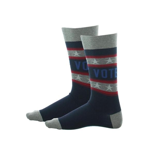 Hot Sox Mens Dress Socks Vote Comfort - 10-13