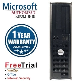 Refurbished Dell OptiPlex 755 Desktop Intel Core 2 Duo E7400 2.8G 4G DDR2 160G DVD Win 7 Pro 64 Bits 1 Year Warranty