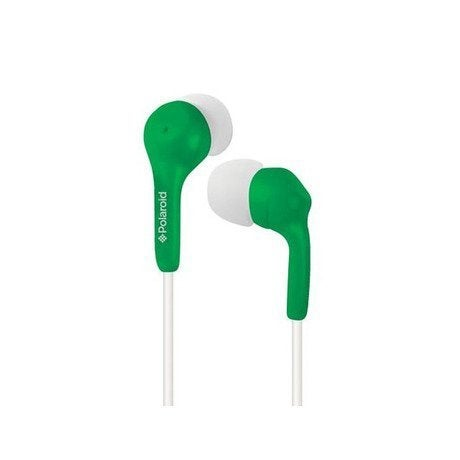 Polaroid Stereo In Ear Headphones, Green