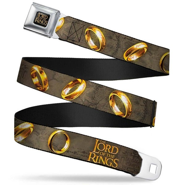 The Lord Of The Rings Full Color Black Gold The Lord Of The Rings One Ring Seatbelt Belt