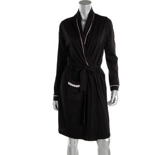 Belabumbum Womens Maternity Contrast Trim Short Robe - L/XL