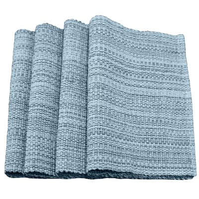 """Fabstyles Casual Classic Set of 4 Thick Cotton Heavyweight Placemats - 13""""x19"""""""