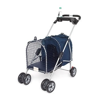 Kittywalk 5th Ave Luxury Pet Stroller Blue 26 x 14 x 35.5""