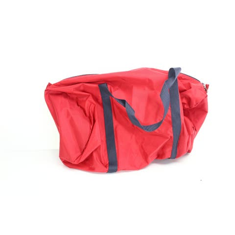American Apparel Men's Bag Red Black Solid One Size Duffle Gym Accessory