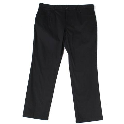 INC Mens Pants Midnight Black Size 38X30 Slim Fit Mid-Rise Stretch