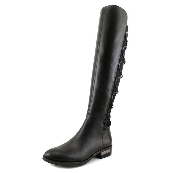 bf3e361deb5 Shop Vince Camuto Parle Women Round Toe Leather Black Knee High Boot ...
