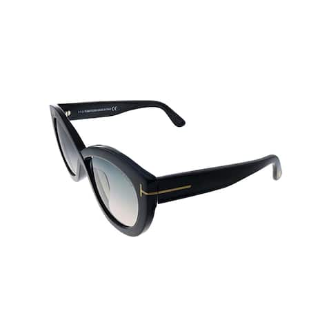 Tom Ford Diane TF 577F 01B 56mm Womens Black Frame Grey Gradient Lens Sunglasses