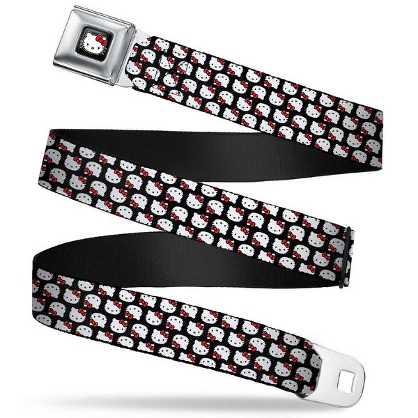 Hello Kitty W Red Bow Full Color Black Mini Hello Kitty Flip Faces Black Seatbelt Belt