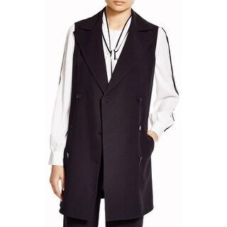 Calvin Klein Womens Suit Vest Solid Collar