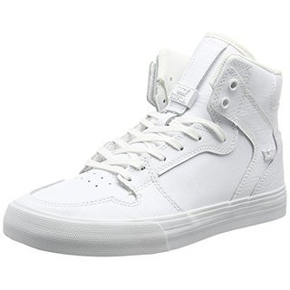 Supra Mens VAIDER, WHITE/WHITE-RED, 7.5