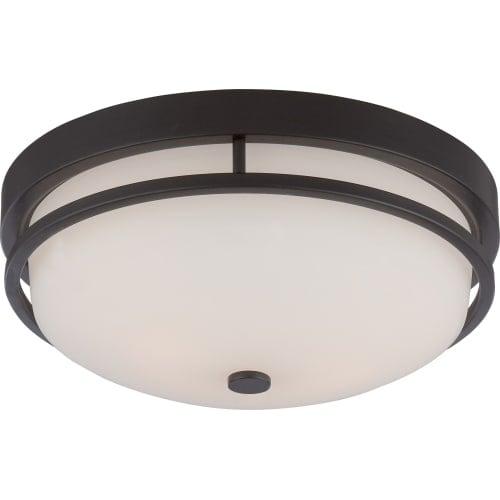"Nuvo Lighting 60/5586 Neval 2 Light 13"" Wide Flush Mount Bowl Ceiling Fixture"