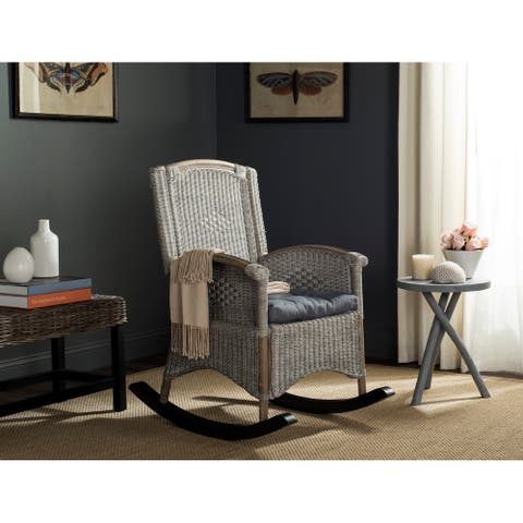 "SAFAVIEH Verona Antique Grey Rocking Chair - 25"" x 35.4"" x 40"""