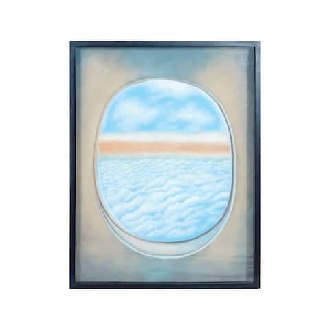 "Dimond Home 7011-1390A Plane Window 40"" x 30"" ""Plane Window I"" Framed Painting on Gallery Stretched Canvas - Blue"