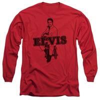 Elvis Jamming Mens Long Sleeve Shirt