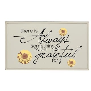Always Something To Be Grateful For Wooden Wall Plaque