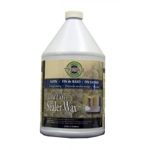 Trewax 887171968 Gold Label Sealer Wax, 1 Gallon, Satin