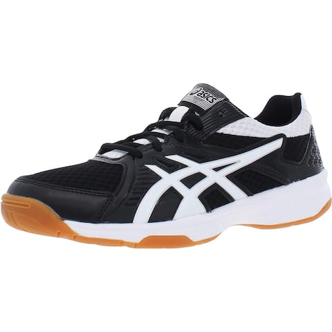 Asics Womens Upcourt 3 Running Shoes Leather Casual - Black/White